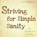 Striving for Simple Sanity