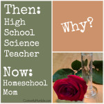 Then-High School Science Teacher. Now-Homeschool Mom. WHY?